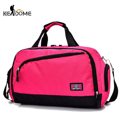 Gym Bags Men Sports Fitness Pack Cylinder Shoulder Sport Bag Women's Handbags Travel Bags Nylon Waterproof Handbag Package XA17D