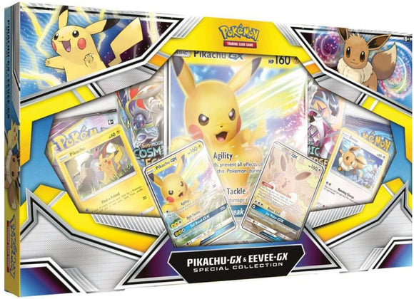 Pokemon Pikachu-GX & Eevee-GX Special Collection Box