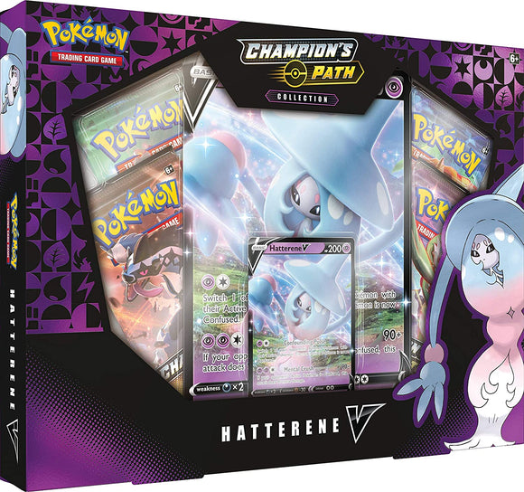Pokemon Champion's Path Hatterene V box