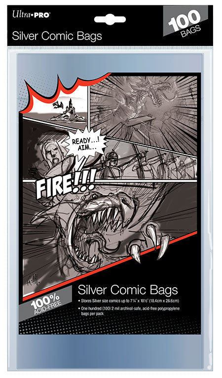 Ultra-Pro Silver Size Comic Bags 100 ct