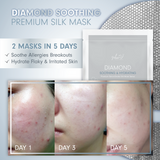 MEIN-V Diamond Soothing Mask. Soothe Allergues Breakouts. Hydrate Flaky & Irritated Skin. Before and After Mask Review