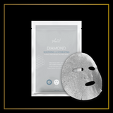 MEIN-V Premium Diamond Soothing Hydrating Silk Mask. Soothe Irritated Skin. Brightening & Firming After 1 Use. Premium Salon Sheet Mask in Singapore