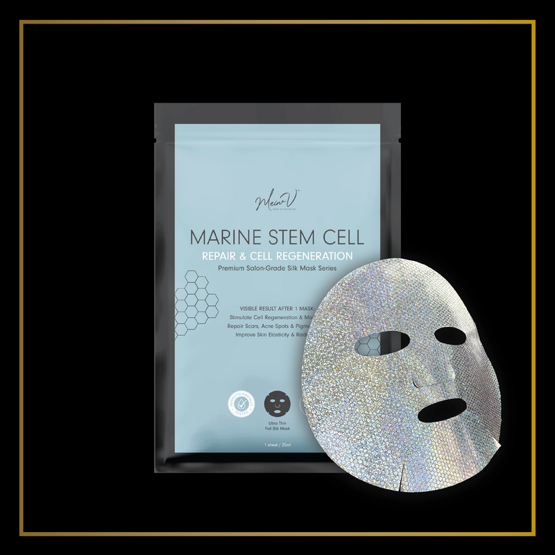 MEIN-V Premium Salon Grade Marine Stem Cell Silk Mask Repairing Scars Sheet Mask in Singapore