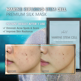 MEIN-V Marine Stem Cell Silk Mask. Before and After Mask Review. Cell Regeneration. Repair scars and improve skin radiance.