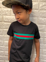 G Red and Green Striped- T shirt/Tee
