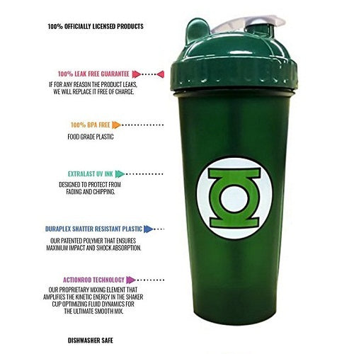 Perfect Shaker Green Lantern Justice League Gym Shaker, Bottle, 800 ml