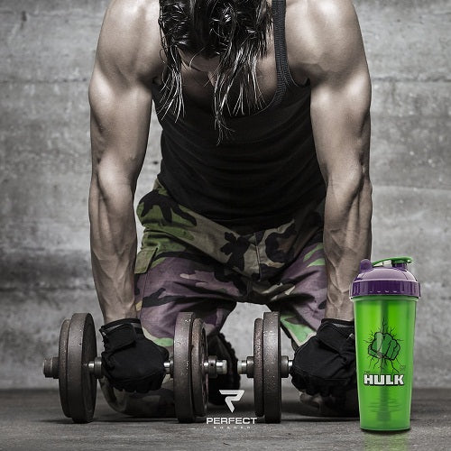 Perfect Shaker Hulk Justice League Gym Shaker,Bottle, 800 ml