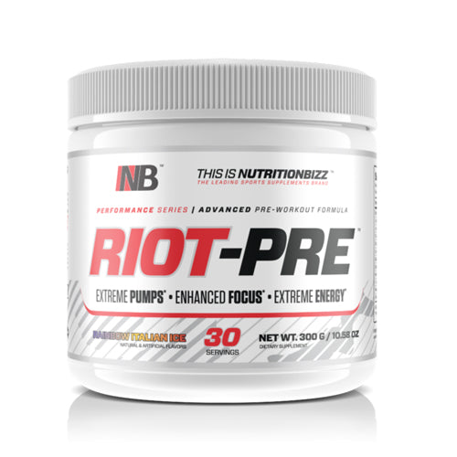 Nutrition Bizz Riot Pre- Rainbow Italian Ice- 30 Serving