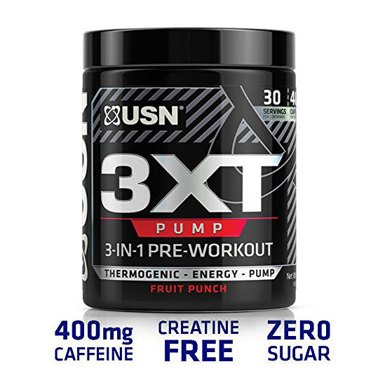 USN 3xt Pump 3-in-1 Pre Workout - Fruit Punch- 30 Serving