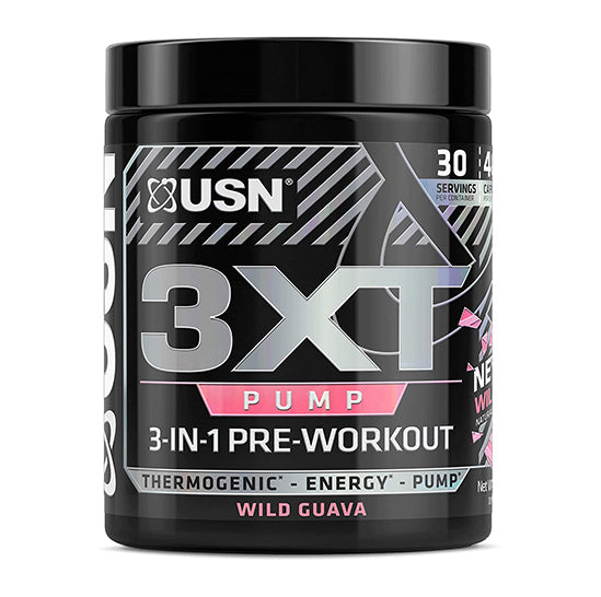 USN 3xt Pump 3-in-1 Pre Workout - Wild Guava- 30 Serving