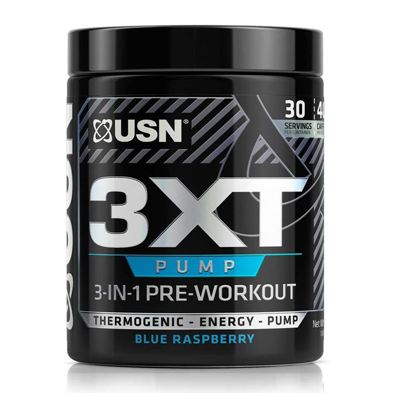 USN 3xt Pump 3-in-1 Pre Workout- Blue Raspberry- 30 Serving