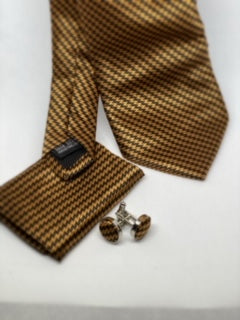 Checkered Print Tie Set