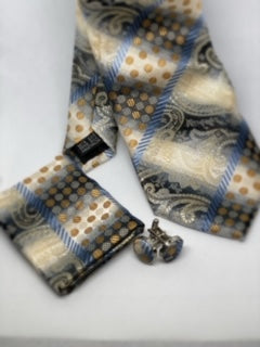 Paisley Striped Tie Set