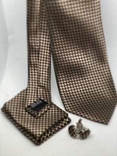 Checker Print Tie Set