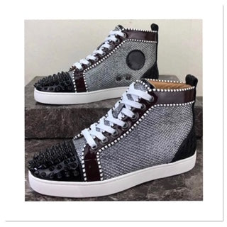 High Top Spikes Flat Sneaker