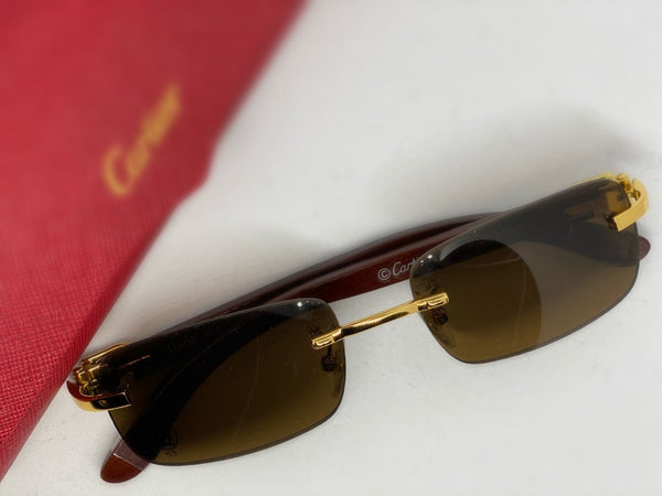 Designer Sunglasses with Wood Detail