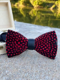 Luxury Bow Tie Feather Collection - Red/Black