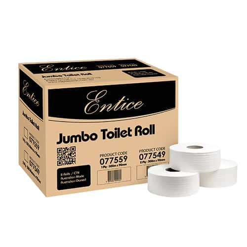 Toilet Paper 2 ply 300mtr Jumbo 8/ctn Royal Touch