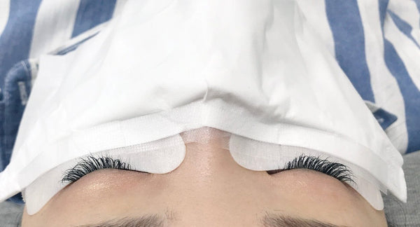 Eyelash extension retention and COVID-19