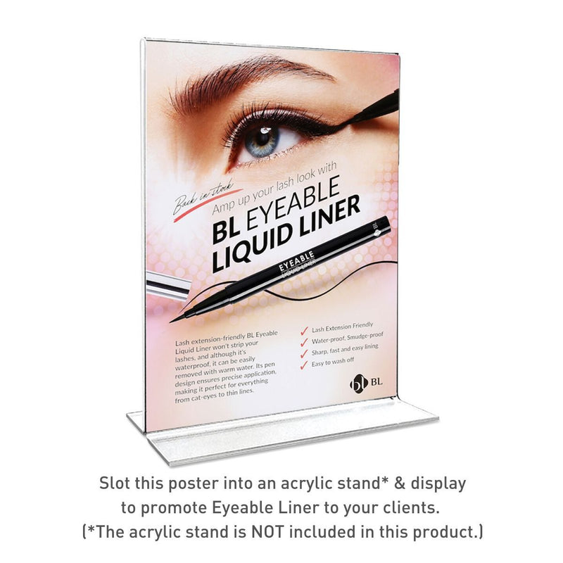 [Sales Poster] Eyeable Liquid Liner (118x257) - BL Lashes Korea