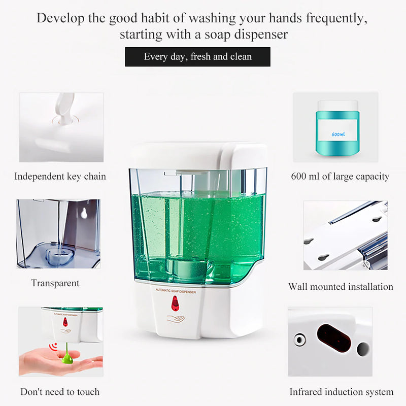 Touchless Automatic Sanitizer Dispenser - Smart Shop Way