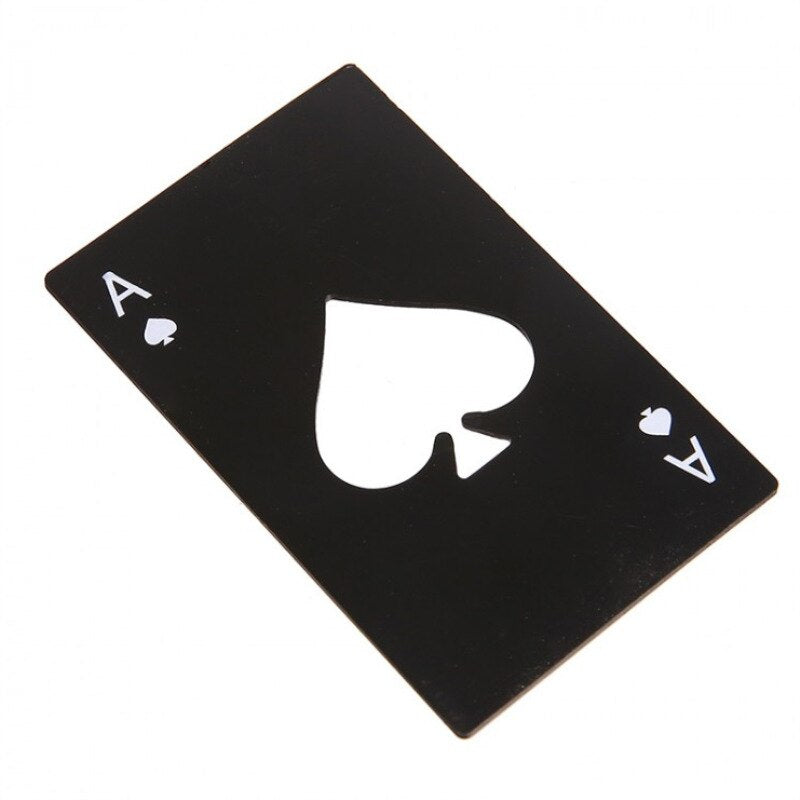 Personalized Black Poker Bottle Opener - Smart Shop Way