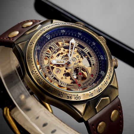 Mechanical Leather Automatic Watch - Smart Shop Way