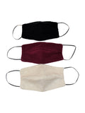 3x Face Mask Cashmere and Cotton | Dalle Piane Cashmere