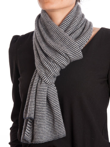 Striped Scarf 100% Cashmere | Dalle Piane Cashmere