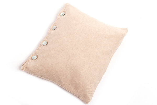 Cushion With Buttons 100% Cashmere | Dalle Piane Cashmere