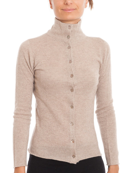 Bomber Jacket With Buttons 100 Cashmere | Dalle Piane Cashmere