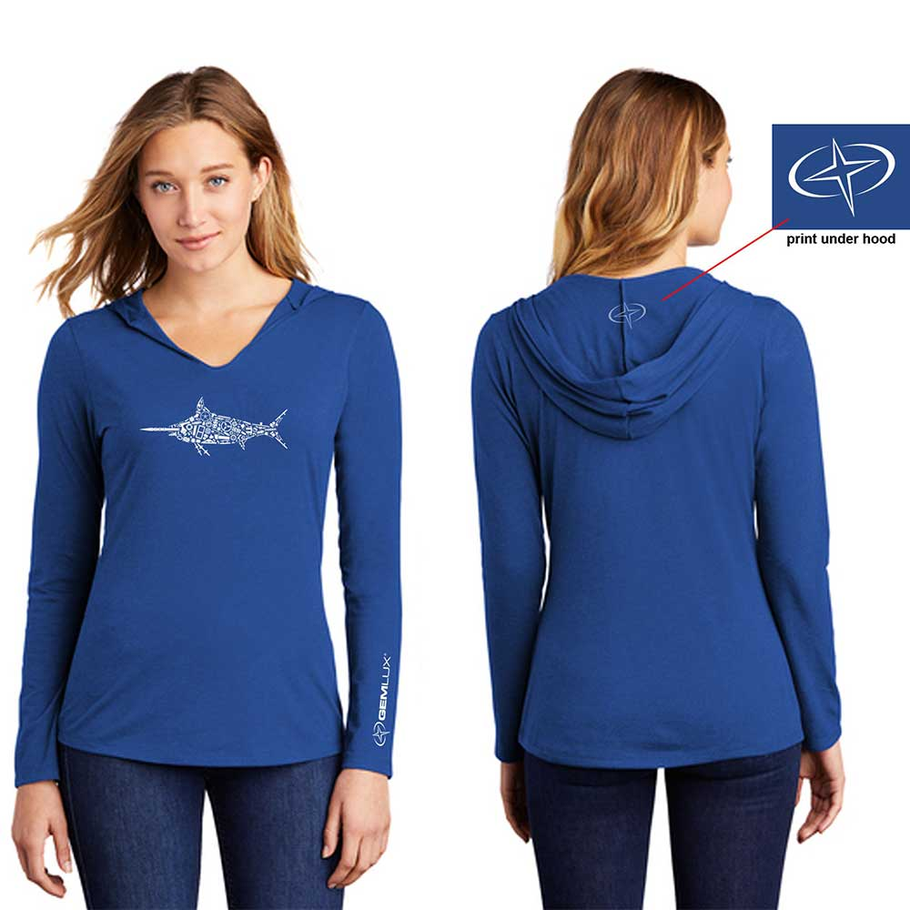 Women's Shirt, Swordfish, Long Sleeve