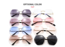 Load image into Gallery viewer, Women Oversized Rimless Sunglasses