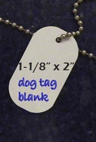 Sublimation Double Sided Dog Tags Set of 5