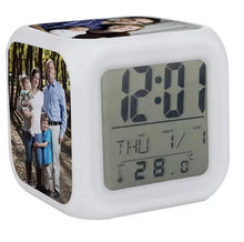 Load image into Gallery viewer, Dye Sublimation Digital 3 Panel LED Alarm Clock