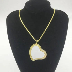 Bling Sublimation Necklace/Heart Necklace Sublimation/Oval Necklace