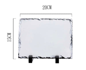 Long Square Photo Slate w/stand