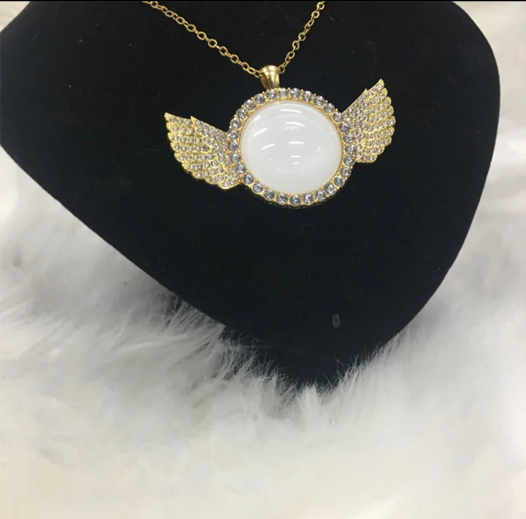 Sublimation Angel Wing Necklace