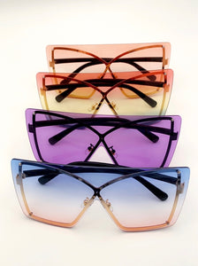 Women's Trendy Oversized Box Shades