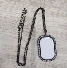 Load image into Gallery viewer, Bling Sublimation Necklace/Heart Necklace Sublimation/Oval Necklace