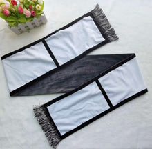Load image into Gallery viewer, 6 Panel Velvet Sublimation Scarf w/ fringe