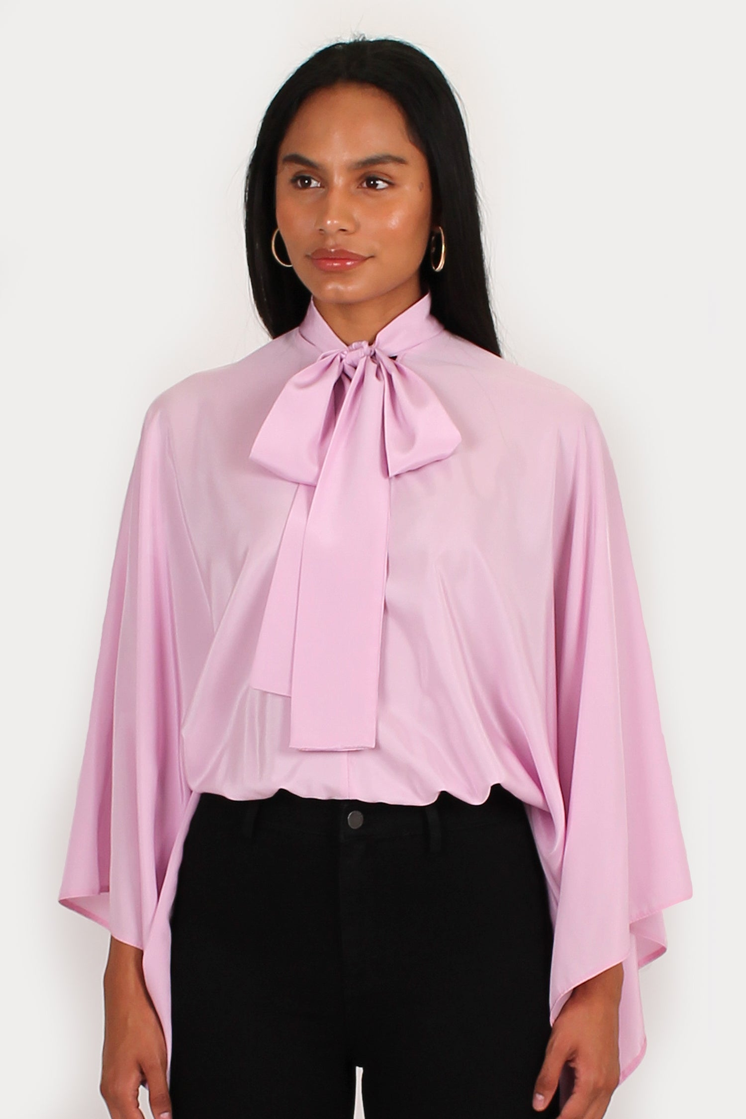 Romeo Blouse in pale pink/ lilac