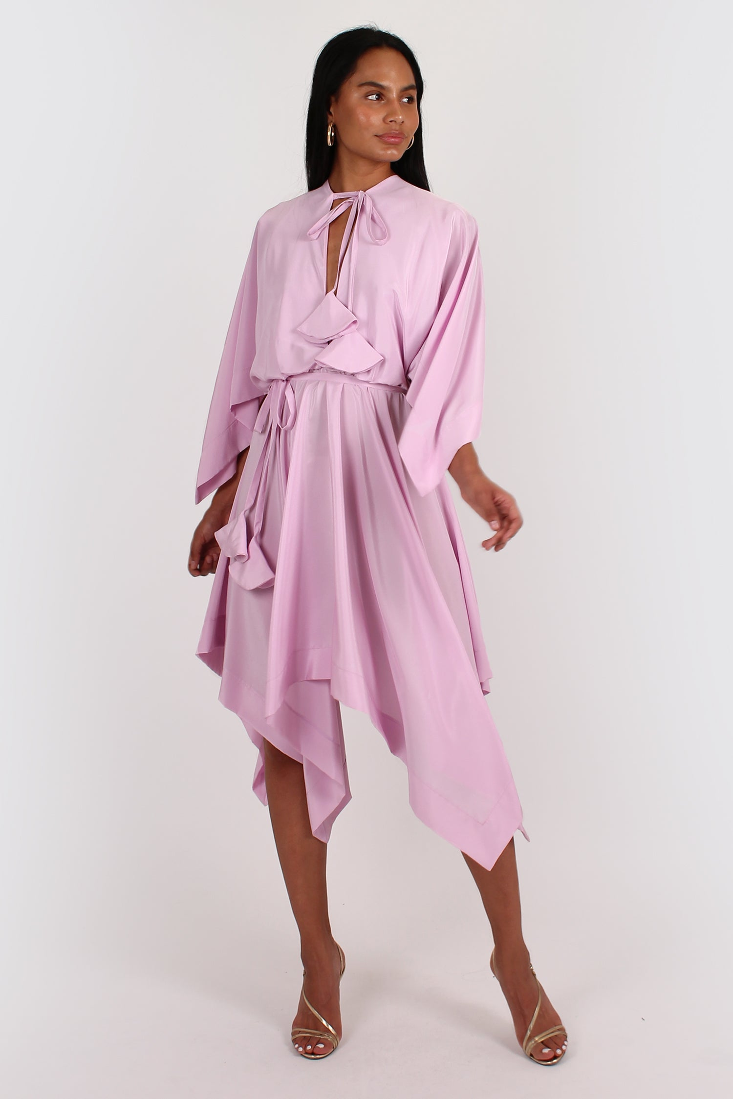 Orphelia Dress in pale pink/ lilac