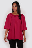 Esme three quarter sleeve top pink