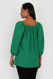 Esme three quarter sleeve top in green