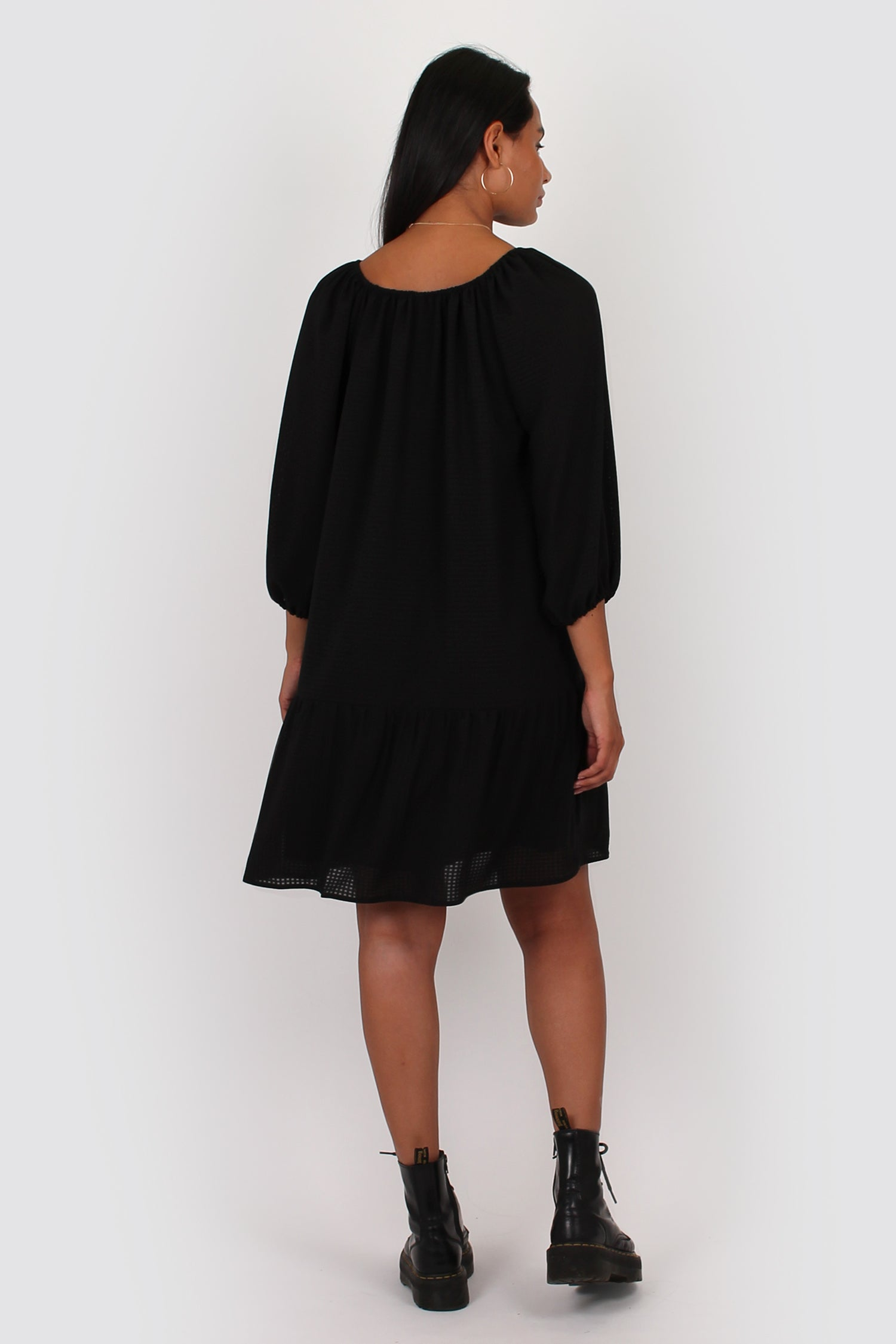 Esme Smock Dress in black