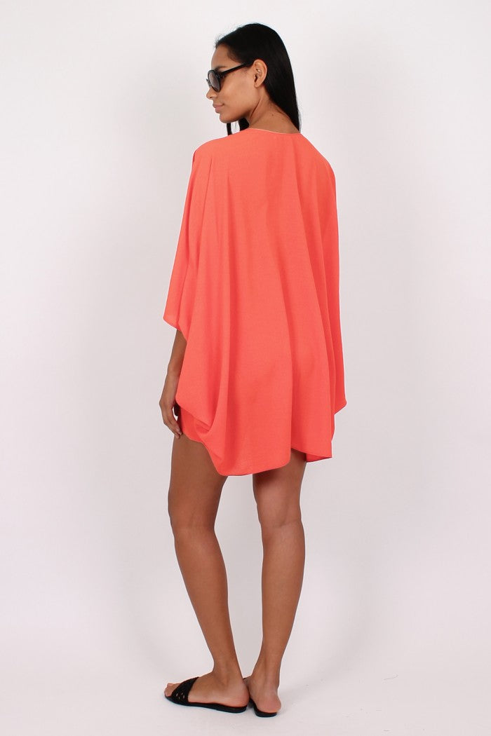 Mina Kaftan in peach