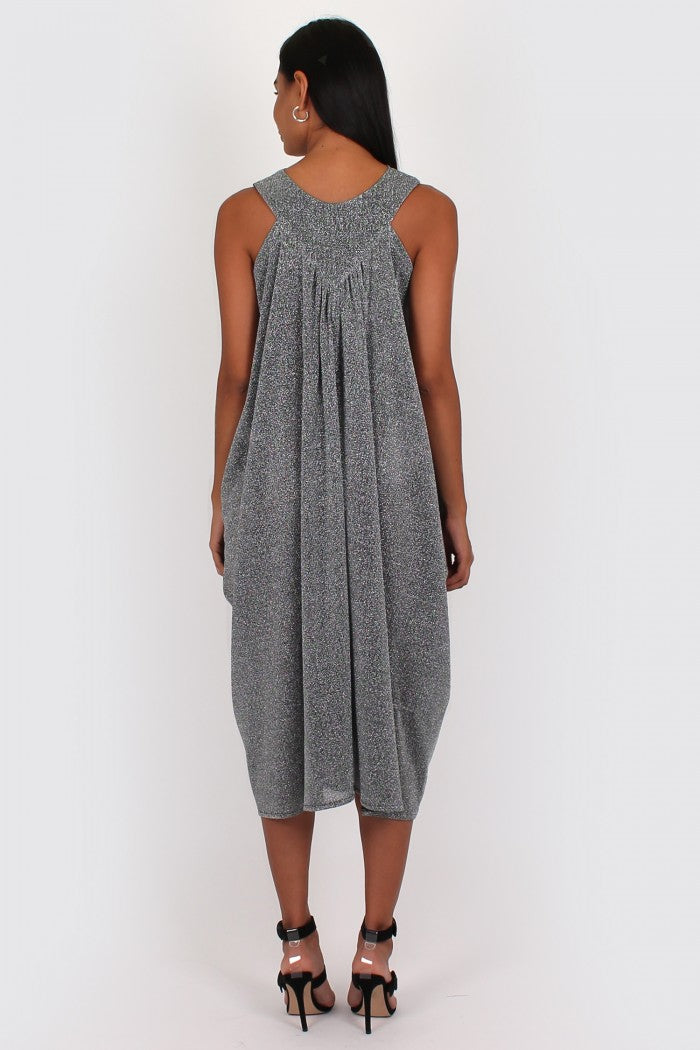 Frankie Dress in silver lurex