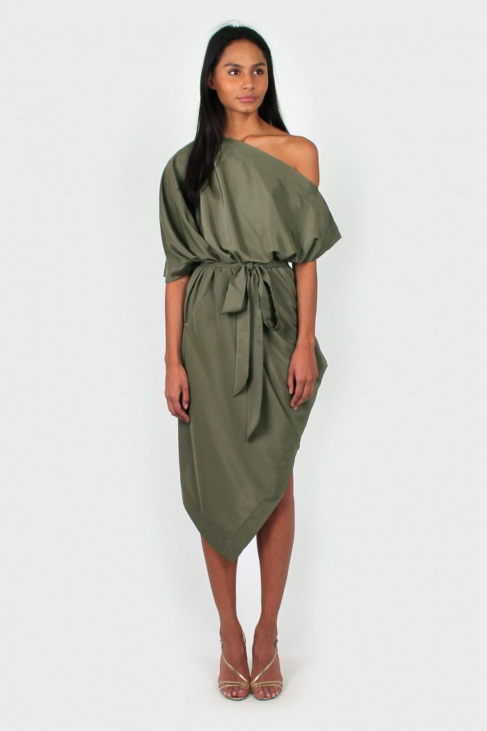 Ava Dress in khaki