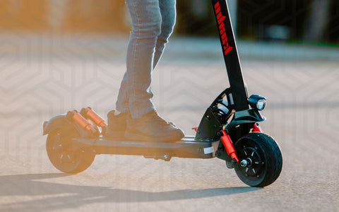 Electric scooter rider